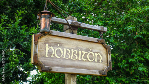 Fototapeta  Hobbiton near Matamata in New-Zealand