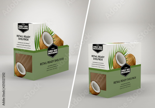Cardboard Display Box Mockup Buy This Stock Template And Explore