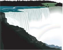 Niagara Falls Vector Illustrat...