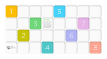 White Compartment Grid, Vector Graphics, Design Layout Element