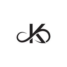 Infinity Letter K Logo Vector