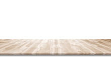 Wooden Floor Isolated On A White