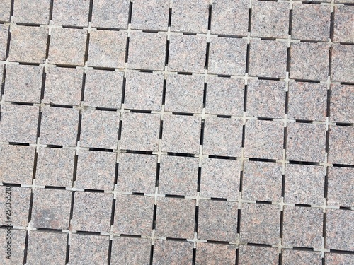 Fotografie, Obraz  square grey marble tiles with spaces in the cracks