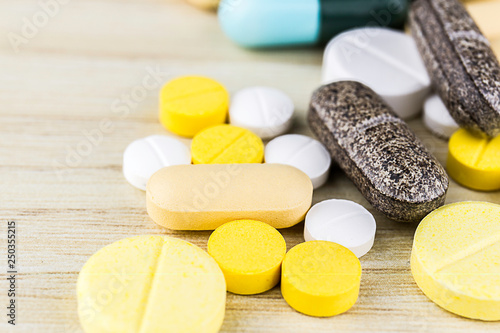 Fotografie, Obraz  Drug prescription for treatment medication