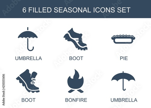 6 seasonal icons Canvas-taulu