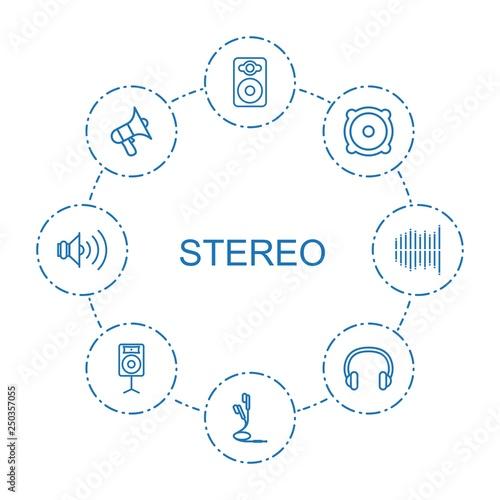 Fotografía  8 stereo icons
