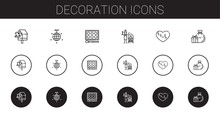 Decoration Icons Set