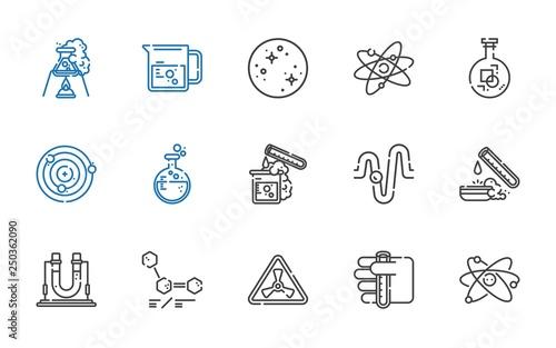 Fotografia  scientific icons set