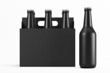 Glass Matte Black Bottles In C...