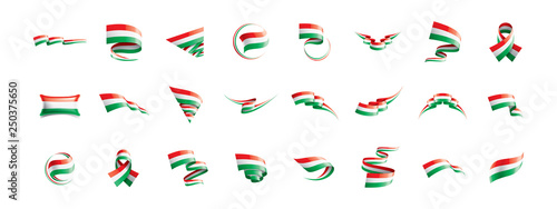 Leinwand Poster Hungary flag, vector illustration on a white background