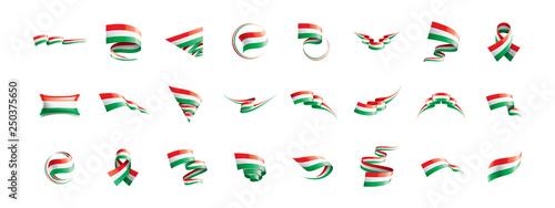 Hungary flag, vector illustration on a white background Fototapete