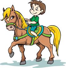 Child Rides A Horse