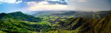 Aerial Panorama Of Semien Mountains And Valley Around Lalibela, Ethiopia