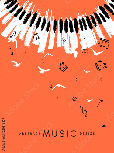 Fotografering Piano concert poster