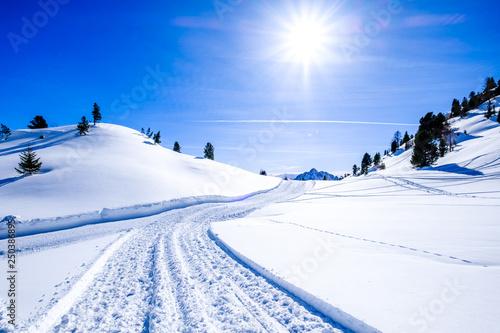 Spoed Foto op Canvas Blauwe hemel landscape near pertisau - austria