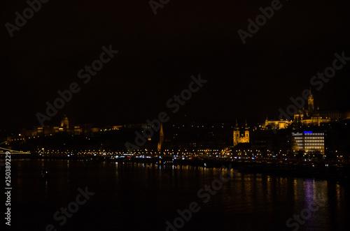 Foto op Aluminium Volle maan Panorama - Budapest