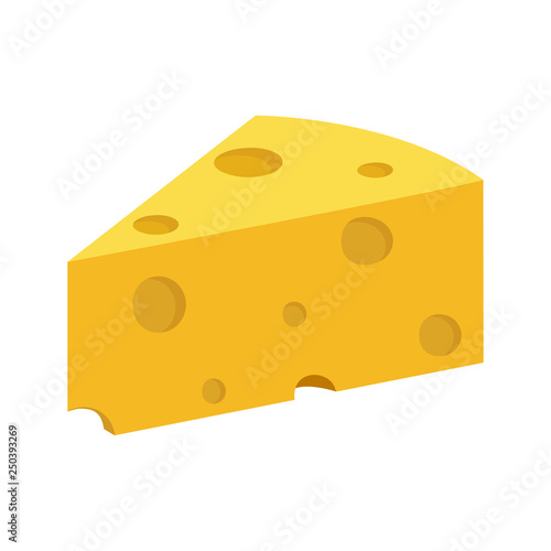 Fototapeta dairy products, piece of cheese, simple color image obraz