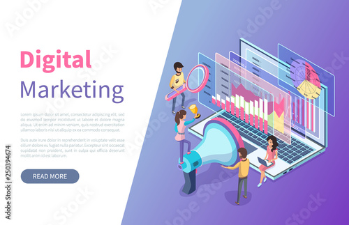 Photo  Online statistics and digital marketing graphics vector