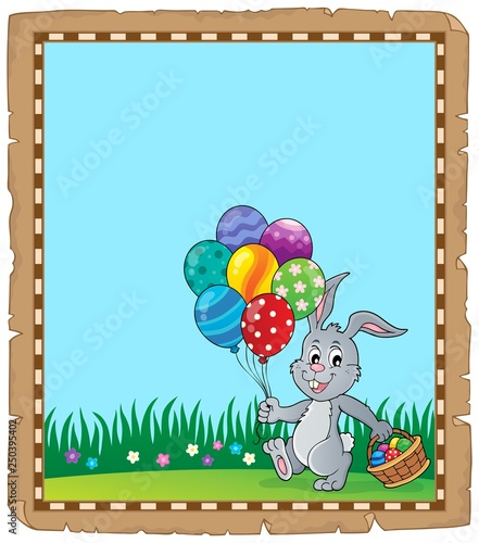 Easter rabbit theme parchment 2