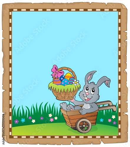 Easter rabbit theme parchment 3