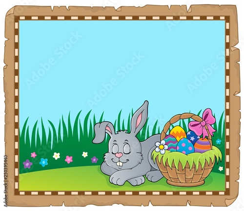 Easter rabbit theme parchment 4