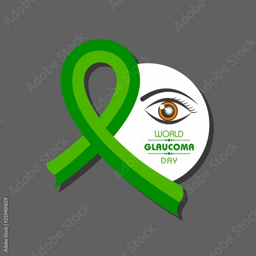 Fotomural A Background for World Glaucoma Day - 12 March