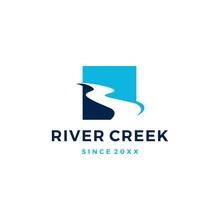 River Creek Logo Vector Icon I...