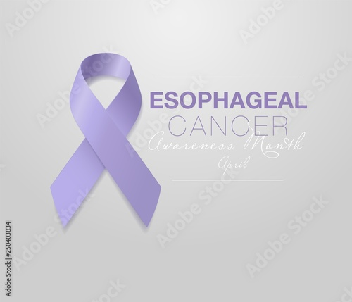 Cuadros en Lienzo Esophageal Cancer Awareness Calligraphy Poster Design