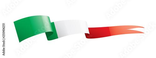 Fotografie, Obraz  Italy flag, vector illustration on a white background.
