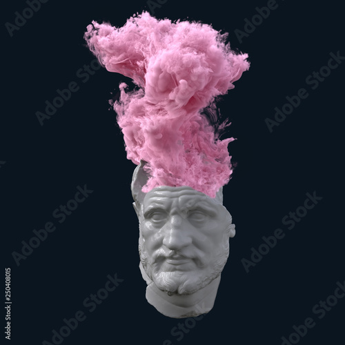 Fotografia antique statue with overheated brain