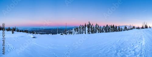 Fotografie, Obraz  Winterpanorama am Dreisessel mit Blick Richtung Sumava