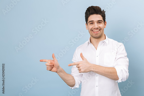 Portrait of a cheerful handsome young man