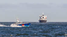 FAST MOTOR BOAT - Border Guard Boat Patrol And Ship On Waterway