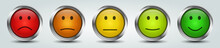 Colorful Feedback Rating Smiley Buttons