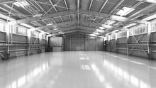 Empty Hangar Delivery Warehous...