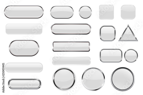 White glass buttons Canvas Print
