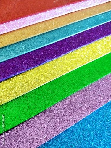 fondo hojas de papel brillante Canvas Print