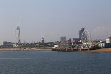 Spinnaker Tower And Southsea In Portsmouth, UK In The Mist