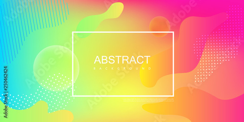Fotografiet  Colorful spectrum background with frame and abstract pattern.