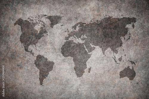 Deurstickers Noord Europa grunge map of the world