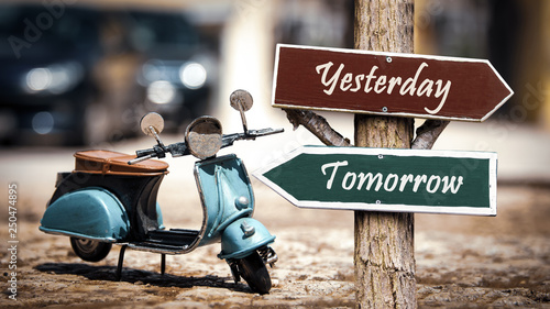 Fotografering  Sign 368 - Tomorrow