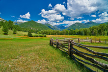 Corral In Apine Setting With Mountains