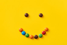 Colorful Candy Smiley Face On ...