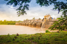 The Pak Mun Dam, A Barrage Dam And Run-of-the-river Hydroelectric Plant Of The Mun River In Ubon Ratchathani Province, Thailand. It Was Supported From The World Bank And Completed In 1994.