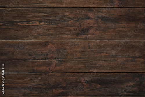 Fototapeta Texture of wooden surface as background, top view obraz na płótnie