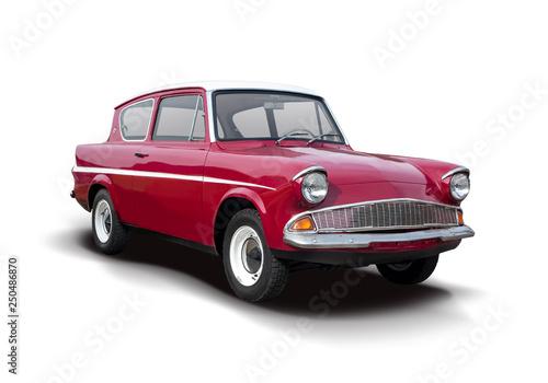 Klasyczny sport brytyjski samochód na białym tle