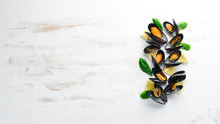 Boiled Mussels With Spices In ...