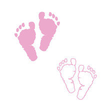 Baby Foot Prints. Pink Colored...