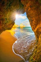 Rocky Coast Of Lagos, Portugal