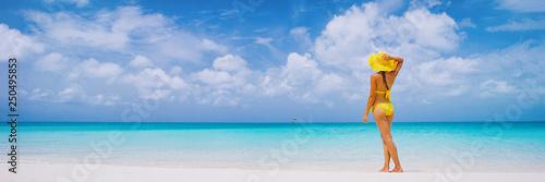 Fotografie, Obraz  Vacation travel bikini woman on Caribbean beach